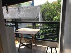 Dormitory Bed and Rooms for Rent in Quezon City terrace and dirty kitchen too